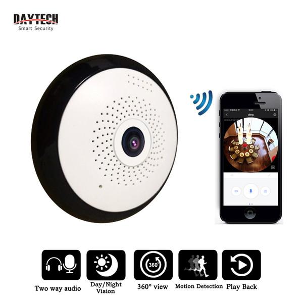 DAYTECH 960 P Kablosuz IP Panoramik kamera WiFi Güvenlik 360 görünüm melek Balık Gözü IR-Cut Gece Görüş İki Yönlü ses iOS Android