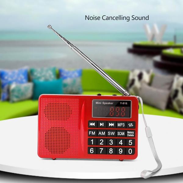 Estaciones de FM / AM / SW Radio FM estéreo Música de disco TF / U Cancelación de ruido Reproductor de MP3 Radio