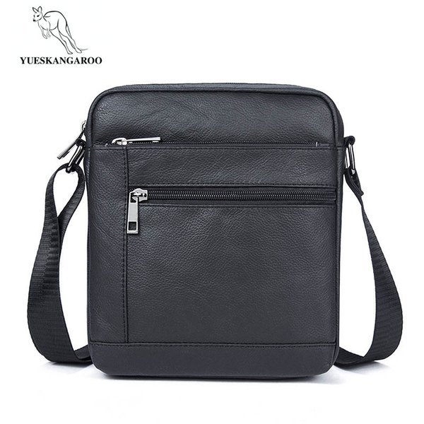 Man Vertical Genuine Leather bag Men Messenger Business Men's Briefcase Designer Handbags High Quality Shoulder Bags 7604