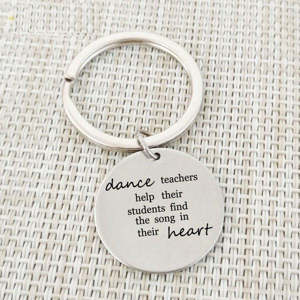 Teacher Keychains dance teachers help students find the song in heart Keychains Key Ring Jewelry For Dance Teachers Day Gift