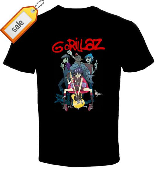 2018 New Fashion Brand Clothing Design Tee Shirt GORILLAZ 3 New T ShirtCrew Neck Regular Short Tee Shirt For Men