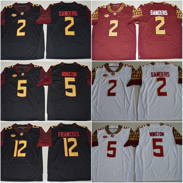uk availability e599a b1252 2019 FSU #12 Deondre Francois Florida State Seminoles Jerseys 2 Deion  Sanders 4 Dalvin Cook 5 Jameis Winston College Jerseys From  Wholesalers5yang, ...
