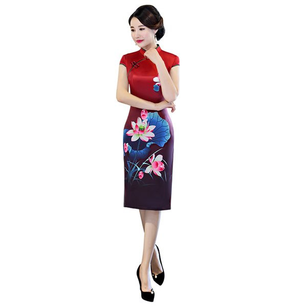 Shanghai Story 2018 New Sale Vintage Qipao dress with Lining Chinese Dress Floral Cheongsam Qipao for Women