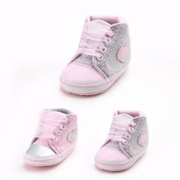 best service 11914 e4643 Großhandel Girls Canvas Schuhe Babyschuhe Rosa Schnürschuhe Sneaker  Rutschfeste Soft Sohlen Kleinkind # 1111 Von Rainbowny, $42.39 Auf  De.Dhgate.Com | ...