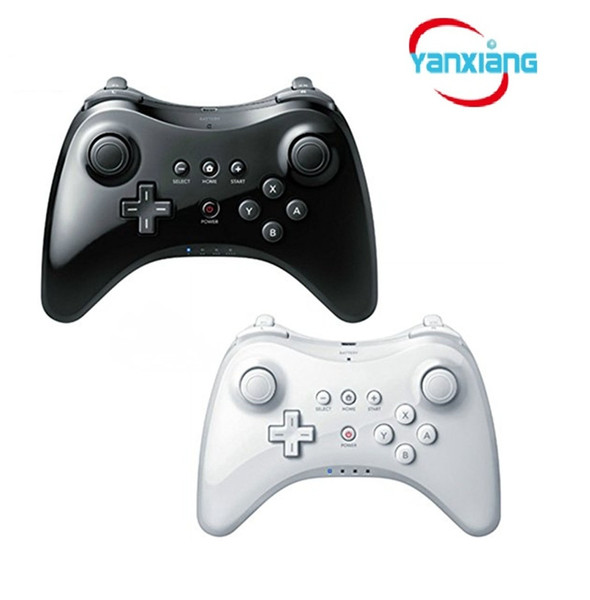 best selling 10pcs Wireless Classic Pro Controller Gamepad with USB Cable For Nintendo Wii U Pro Black White YX-wiiupro