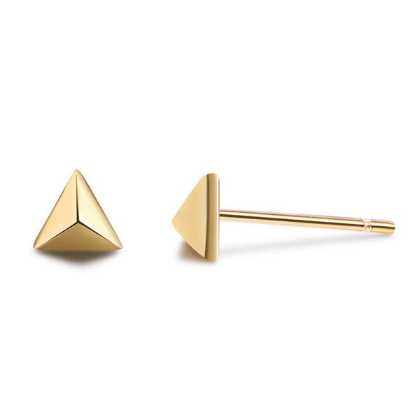 100% стерлингового серебра 925 серьги стержня для женщин мода треугольник дизайн серьги ювелирные изделия Bijoux любителей подарки свадебные украшения