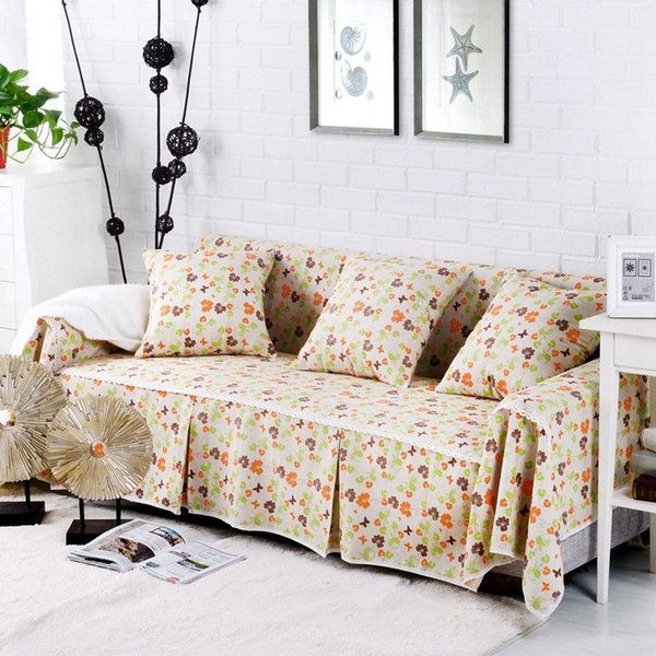 Floral Cotton Linen Slipcover Sofa Cover OAUl Protector For 1 2 3 4 Seater  Qsh Wedding Table Linen Furniture Covers For Sofas From Supreme1982, $5.98|  ...