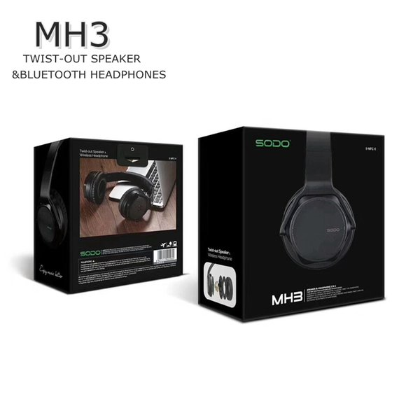 SODO MH3 NFC 2in1 Twist-out Speaker Auriculares Bluetooth con FM Radio / AUX / TF Card MP3 Deportes Magia Auriculares inalámbricos DHL envío gratis