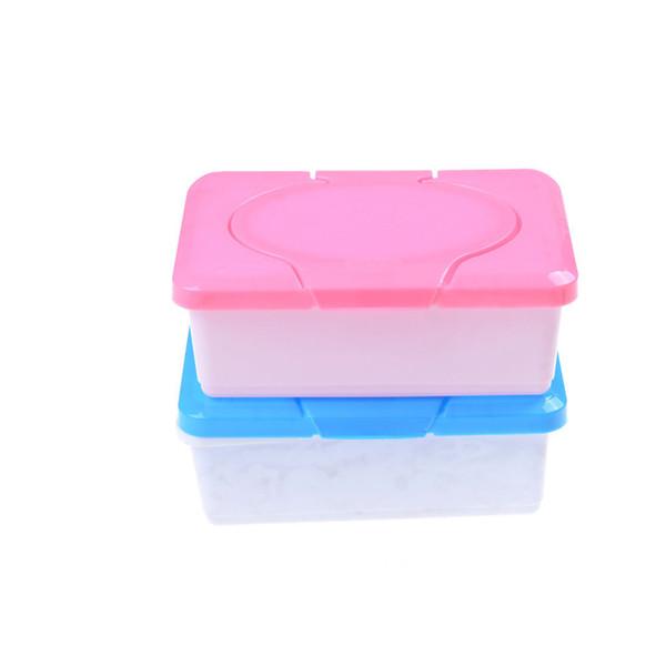 Plastic Napkin Storage Box Dry Wet Tissue Paper Case Baby Wipes Holder Container