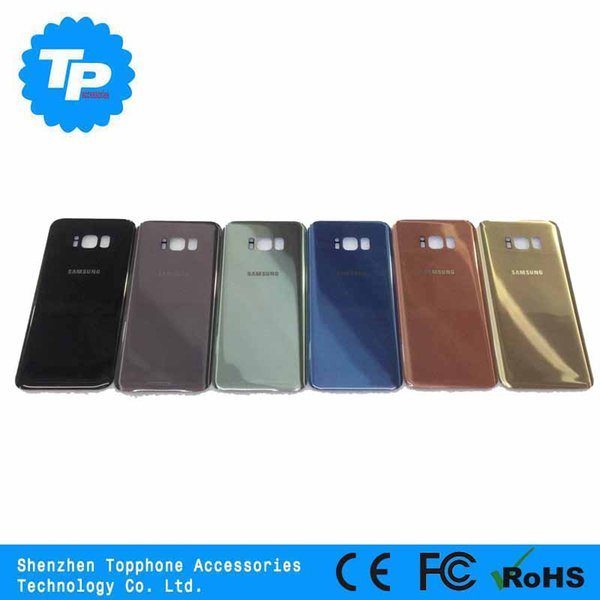 OEM Quality Replacement Battery Back Door Housing Glass Cover For Samsung S8 S8 plus G950 G955 with Adhesive Sticker