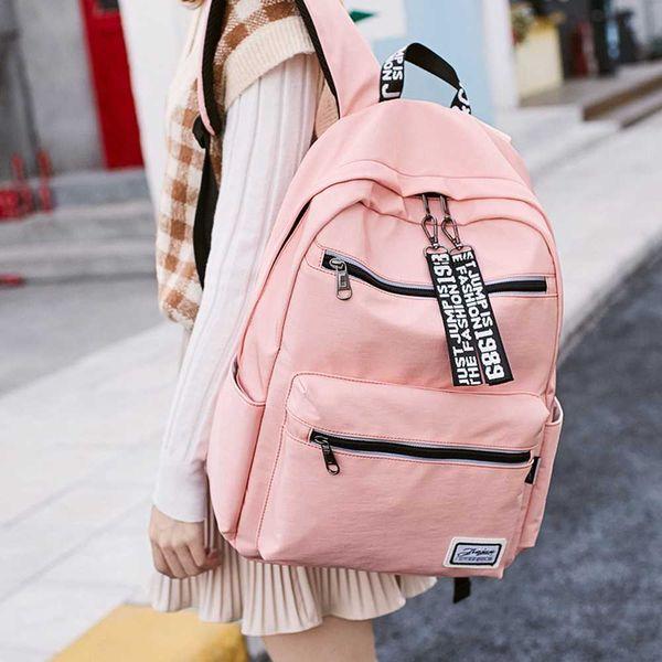 Tuval sırt çantası kadın yeni ortaokul kolej rüzgar çantası Oxford bez taşınabilir sırt çantası Kore moda
