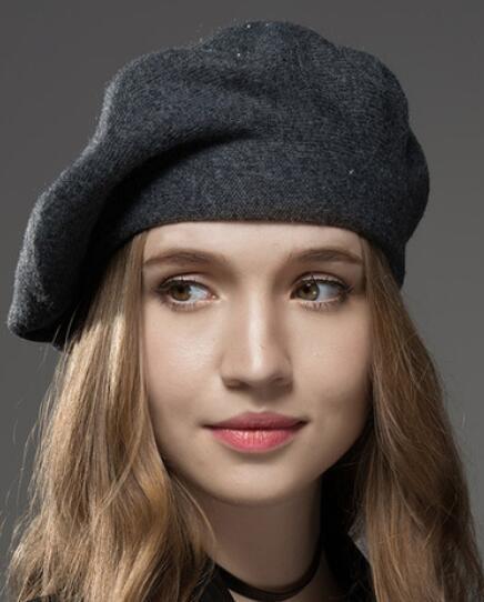 Wintermütze Baskenmütze Neue Wolle Kaschmir Damen Warme Marke Casual Hohe Qualität frauen Vogue Strickmützen Für Mädchen Kappe