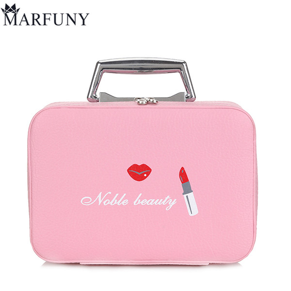 MARFUNY Brand Cosmetic Bag Women Makeup Bags High Quality Women Travel Necessaire Toiletry Make Up Box Lipstick Professional Box