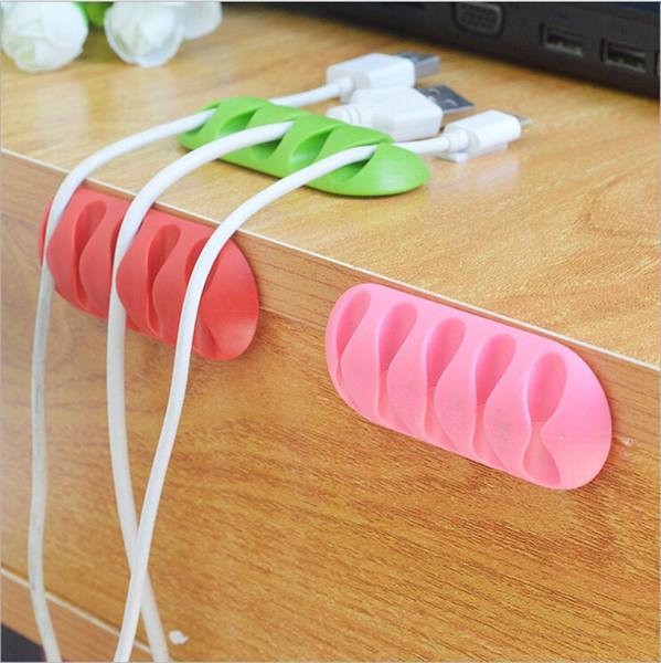 Mehrzweckkabel Kabel Schreibtisch Tidy Halter Tropfen Clips Organizer Linie Fixer Wickler Linie Zubehör USB Ladegerät Kabelhalter