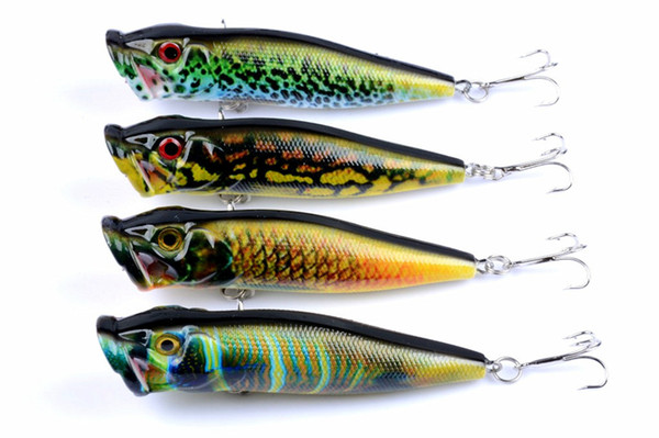 4Pcs 9.5cm 12g Popper Fishing Lures 3d Eyes Bait Crankbait Wobblers Tackle Isca Poper Pesca Japan New Arrival Free shipping