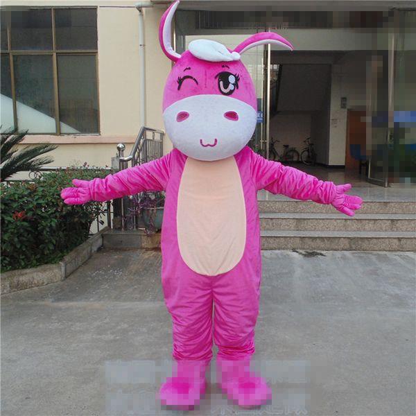 Adult Size Cartoon Donkey Mascot Brithday Party Animal Pink Cute ...