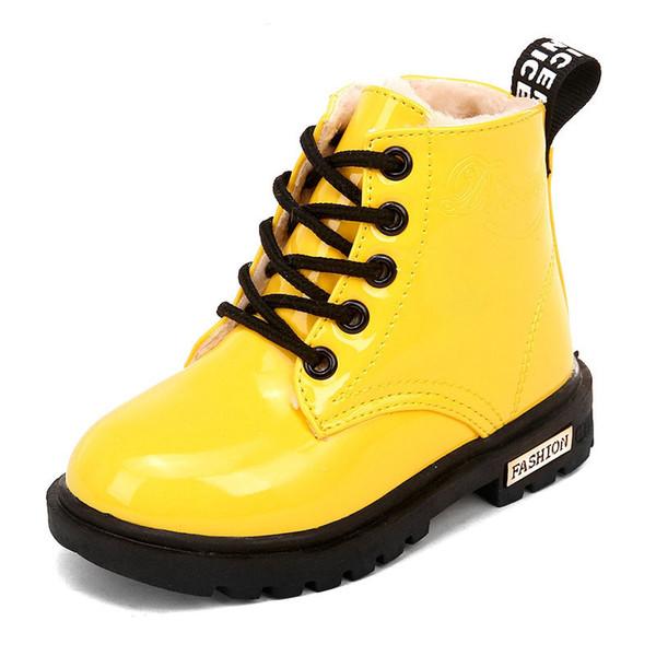 Nuove scarpe da tennis impermeabili Martin Snow gomma bambini stivali ragazze ragazzi invernali stivali per bambini scarpe