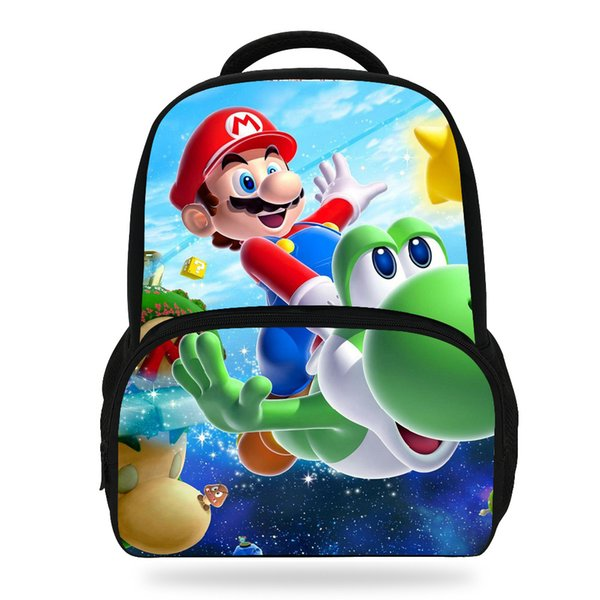 14Inch Fashion School Cartoon Backpack Bag For Kids Super Mario Backpack For Children Boys Girls