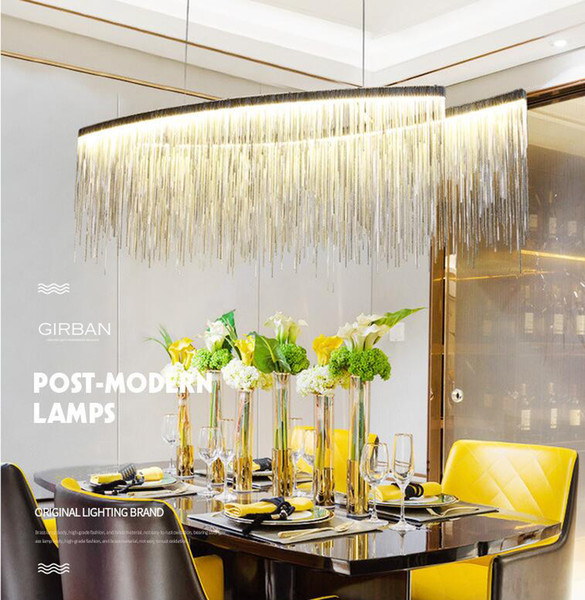 Modern Rectangle LED Chandeliers Pendant Light Contemporary Hanging Lamps Fixtures for Hotel Indoor Home Dining Room