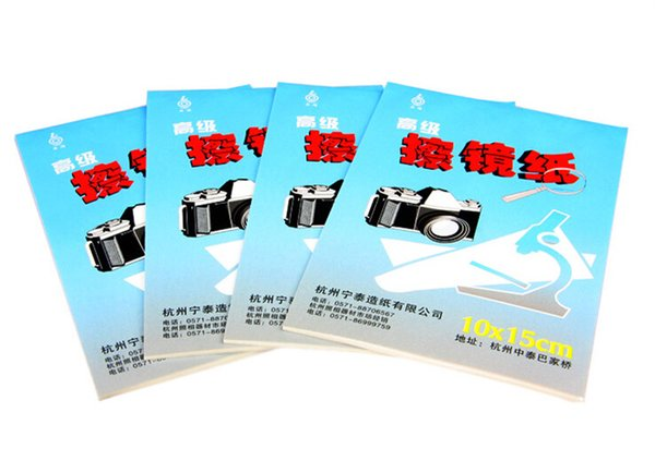 Wholesale 50piece large size 10*15cm 50 sheets DSLR Camera Lens Tissue Cleaning Paper free shipping with tracking number