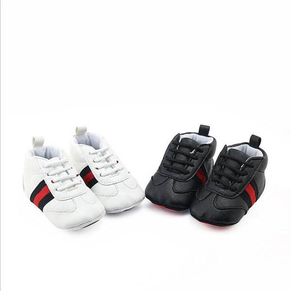 New PU Leather Baby Sneaker Sport Shoes For Girls Boys Newborn Shoes Baby Walker Infant Toddler Soft Bottom Anti-slip First Walkers