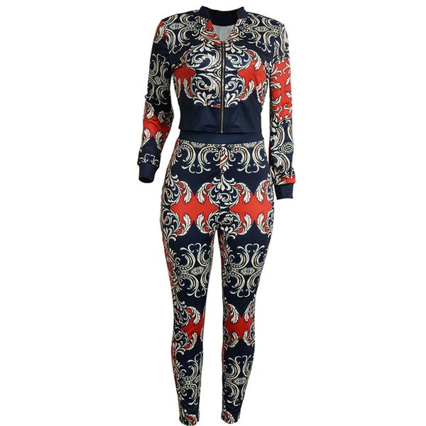 Autumn Two Piece Set Tracksuits 2 Piece Outfits Woman Suit Long Sleeve Sweatshirts Hoodie +Pants Clothing Women Zipper Tunic Female