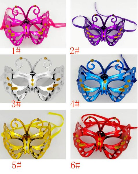 Halloween Mask Costume Cosplay Masquerade Butterfly Half Face Masks For Adults Party Makeup Prom Dance Christmas Bauta Mask JHH7-1499