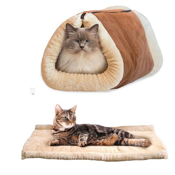 Cute Cat спальный мешок Теплый Pet Кровать для малого Кошка и собака Дом Прекрасный мягкий Pet Cat Мат Подушка Pet Products моющийся