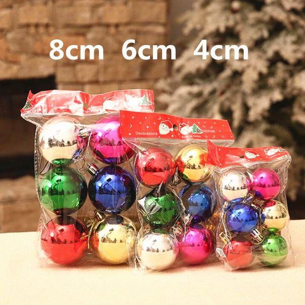 Небьющиеся рождественские шары 6шт елки Decorationsin мяч свадьба дерево Decorationsin размер 1.57