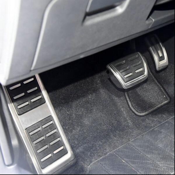 Pedale MT Pedal / AT in acciaio inox per auto (include poggiapiedi + gas + frizione + pedale freno) per LHD Octavia MK3 A7 2015