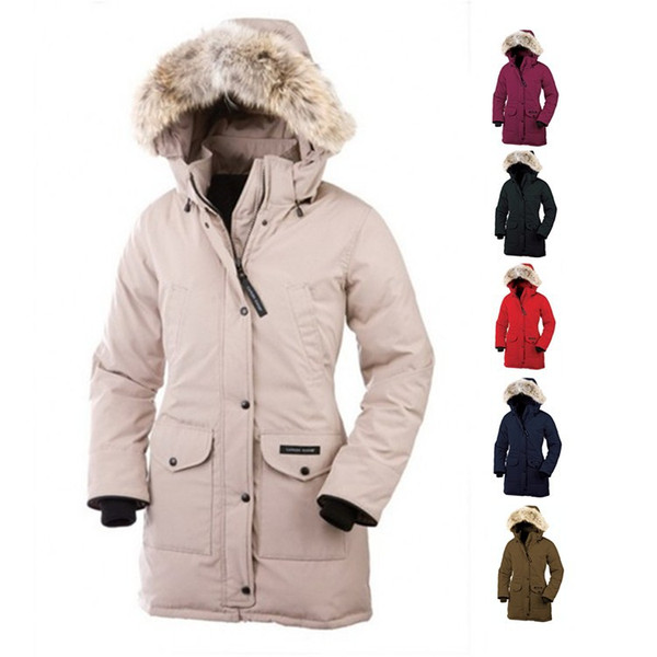 Free shipping Winter New Brand Canada Women's Goose Down Chilliwack Bomber Hooded Warm Coat Fur Windbreaker parka
