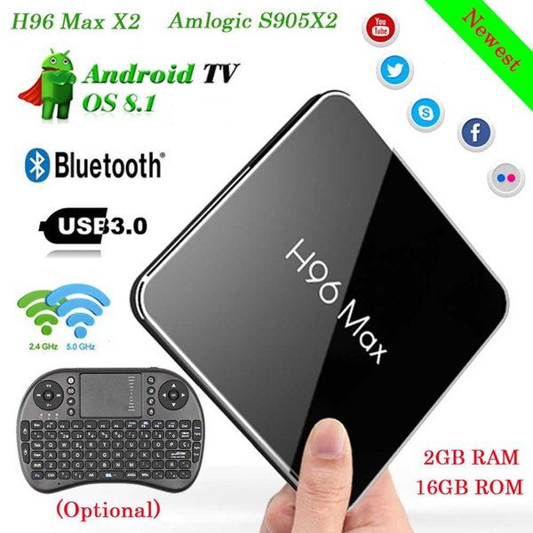 Top H96 Max X2 Android 8 1 4K HD TV Box Amlogic S905X2 Quad Core USB 3 0  2 4G&5GHz Wifi Bluetooth Set Top Box Smart Media Player Tv Internet Box