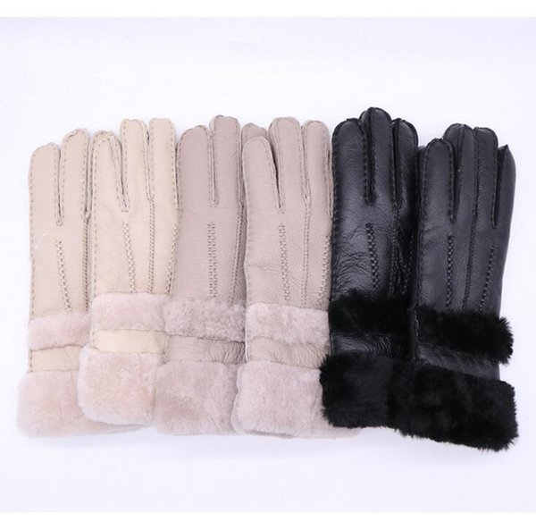 Fashion Style Sheepskin Women Leather Gloves Fall Winter High Quality Warm And Windproof Gloves Three Colors Optional Free Shipping