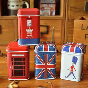 best selling Free ship!1lot=24pc!London style storganizer boxes,tin box,storage case,household goods,storage container pencil case