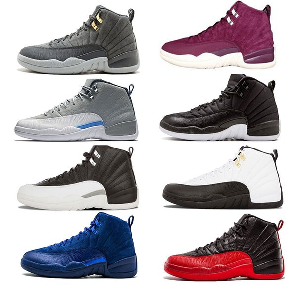 Basketball 12 men shoes white the master GS Barons Wolf Grey flu game taxi playoff french blue gym red Sneakers size 7-13