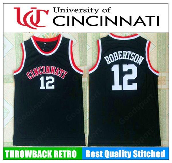 HOT CINCINNATI university NCAA Stitched 12 Oscar Robertson Stitched embroidery Swingman jerseys speed SHIRTS top sport basketball retro