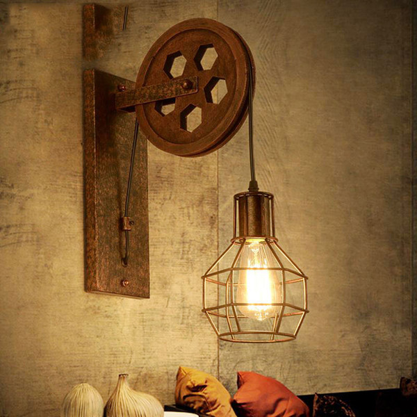 Allée Levage Poulie Manger Restaurant Lampe À Soutien Créative Gorge Couloir Acheter Loft Pub Café Applique Murale Rétro Salle gIYfyv7b6