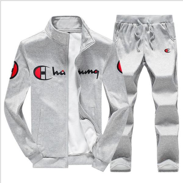 Frühling Herbst Männer 2019 Hoodies und Hosen Männer Set Student Sweatshirt Männer Trainingsanzug Hoody Sportanzüge Zipper Outwear S-3XL