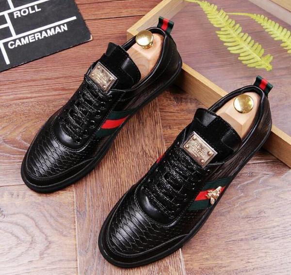 Los nuevos hombres de los zapatos de vestir de gama alta visten los zapatos del ocio del negocio de gran tamaño: 38 -43 Envío libre nx2a35.