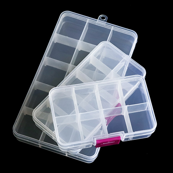 nail art display case 1pcs Empty Clear Nail Art Rhinestones Tools Jewelry Beads Display Storage Rectangle Box Case Organizer Holder SA652