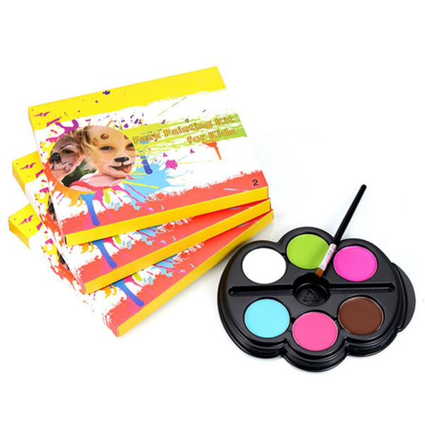 New Body Face Paint Makeup Painting Pigment Halloween Carnival Party Body Art Face Painting Kit For Kids Adults School Spirit Temporary Tattoos