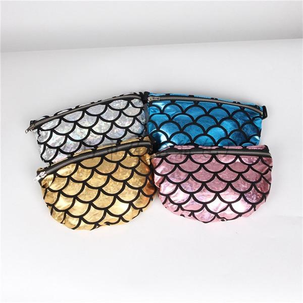 Maam Dinner Handbag New Pattern Zipper Shoulder Bag Multifunction Mermaid Scale Customized 4 Colors Storage Bag Popular 14jb V