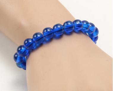 Safira transparente azul