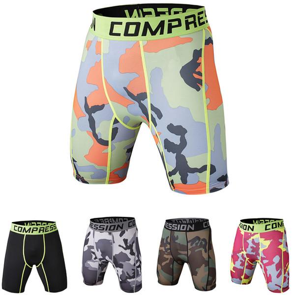 Mens Gym Shorts Tracksuit shorts PRO Slim Fitted compression Active shorts Sweatpants Bodybuilding Combat Dry Leggings men short pants