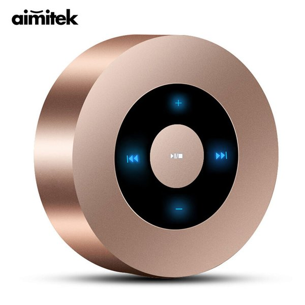 Mini Wireless Bluetooth Speaker Portable Touch Screen Stereo Subwoofer MP3 Player with Microphone TF Card Slot AUX-in