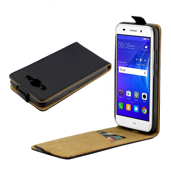 Business Leather Case For Coque Huawei Y3 2017 Vertical Flip Cover Card Slot Cases For Huawei Y3(2017) Mobile Phone Bags