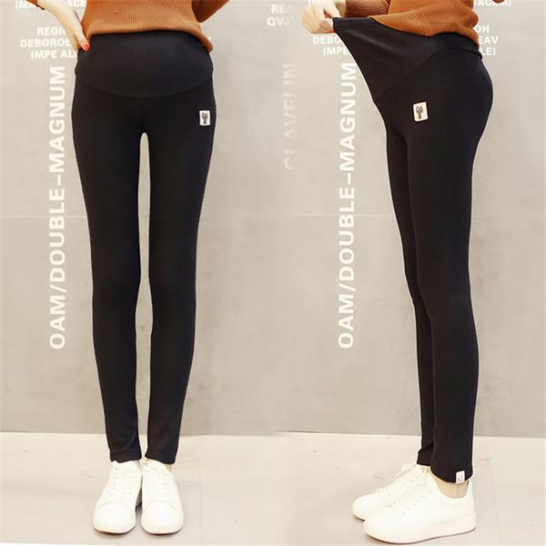 Annelik Legging Elastik Pamuk Ayarlanabilir Bel Göbek Sıska Kalem Gebelik Hamile Kadınlar için Pantolon Pantolon Giysileri