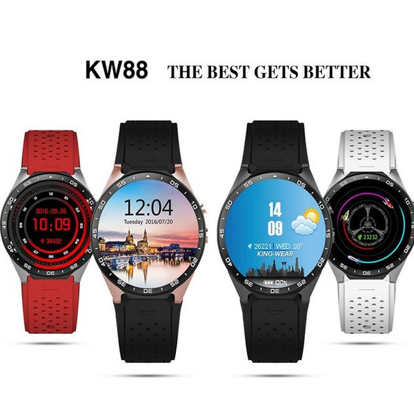 KW88 Smart Watch 1.39 Inch MTK6580 Quad Core Android 5.1 3G Smart Watch Heart Rate Monitor