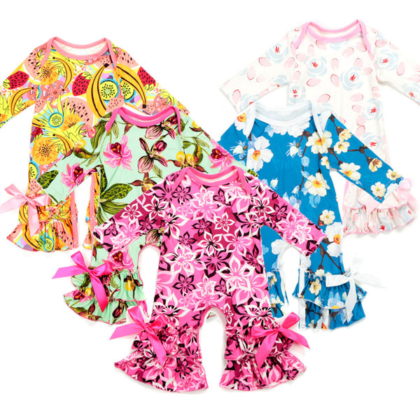 Quenya 30 Styles Baby Christmas Pajamas One Piece Baby Girls Rompers Floral Jumpsuit Baby Long Sleeve Romper Girl Boutique Clothing Onesies