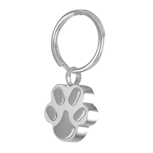 Dog Cat Memorial Urn Key Chain 316L Stainless Steel Pet Ashes Cremation Jewelry Key Ring Funeral Keepsake Locket Keychain